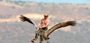 Путин и журавли. Фотожабы