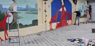 Граффити по мотивам шедевров живописи