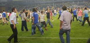 Беспорядки на матче «Шахтер» - «Фенербахче»