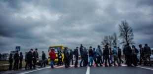 На Львівщині шахтарі перекрили швидкісну трасу