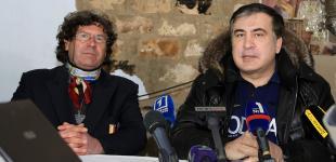 Французский винодел Кристоф Лакарен принимает у себя Михаила Саакашвили