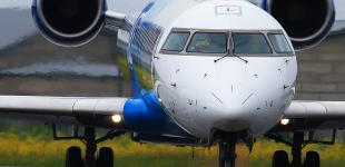 Белая эстонская стрекоза приземлилась в одесском аэропорту