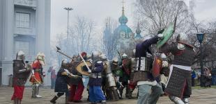В Киеве реконструировали бой горожан с татаро-монголами