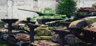 Рембаза: танковое кладбище в Киеве