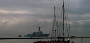 Ракетный эсминец США пришвартовался в Одесском морском порту