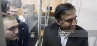 Киев: протесты, плакаты и Саакашвили в суде