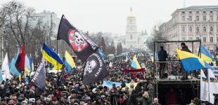 «Марш за майбутнє»: як у столиці мітингували прихильники Саакашвілі