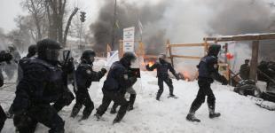 Зіткнення з поліцією в наметовому містечку під Радою