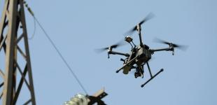 В Киеве тестировали электросети с помощью дронов