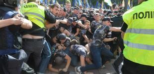Выступление Порошенко в парламенте и беспорядки под Радой