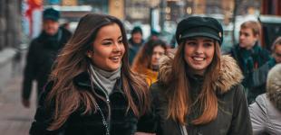 Весенняя зима: какое настроение у жителей Киева в солнечную пятницу