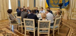 Зустріч Президента України Володимира Зеленського з керівництвом Верховної Ради та парламентських фракцій