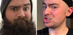 С бородой и без. Это точно те же самые люди?
