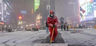 Зимовий шторм у Нью-Йорку