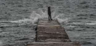 Предновогоднее море в Одессе: суровое, но красивое