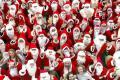 В США прошли оригинальные забеги Санта Клаусов