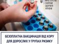 В Украине будут бесплатно вакцинировать от кори