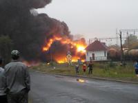 В Черкасской области горел состав с нефтепродуктами