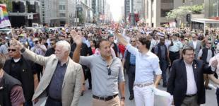 Премьеры Канады и Ирландии прошли с прайд-парадом в Монреале