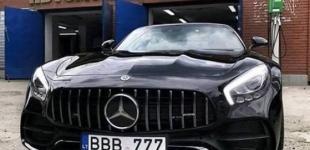 В Украине засветился безумно дорогой Mercedes-Benz на литовских номерах