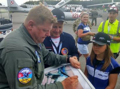Украинский летчик на авиашоу в польской Гдыне показал лучший пилотаж