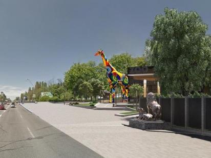 На входе Киевского зоопарка появится 15-метровый жираф