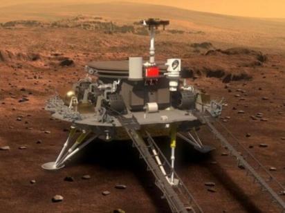Первый китайский марсоход сел на Красной планете