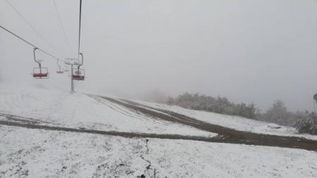 Карпаты начало засыпать снегом