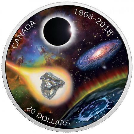 В Канаде выпустили монету с настоящим метеоритом