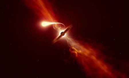 Астрономы показали взрыв звезды, которую «поедает» черная дыра