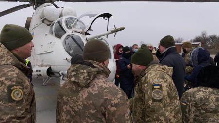 Хомчак принял участие в испытаниях вертолета Ми-24 с украинскими деталями