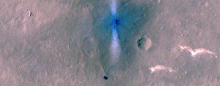 Спутник NASA показал с орбиты китайский марсоход на Красной планете