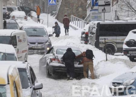 В Киеве 9-балльные пробки
