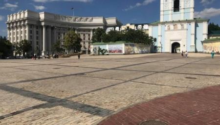 Михайловскую площадь и соседние улицы закрыли для транспорта