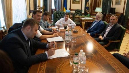 Зеленский встретился с Коломойским: говорили о бизнесе и энергетике
