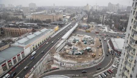 Кличко показал, как обустраивают съезды с Шулявского моста