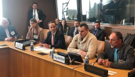 Сенцов в ООН призвал бороться за освобождение украинских политзаключенных в РФ