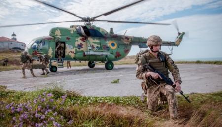 Украинские морпехи провели