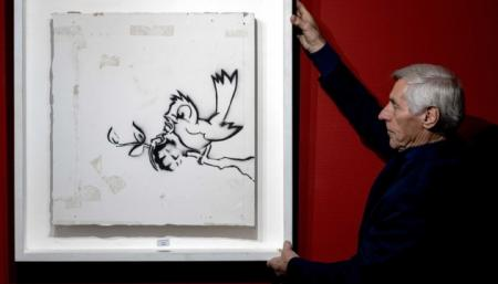 Картину Бэнкси продали на аукционе в Нидерландах за €170 тысяч