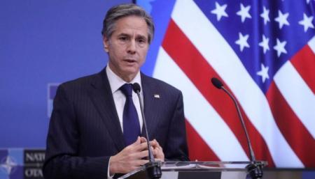 В Госдепе США внимательно следят за отводом войск России от украинской границы - Блинкен