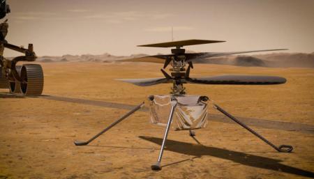 Полет вертолета NASA на Марсе показали в 3D