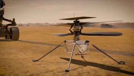 Вертолет NASA пролетел на Марсе 50 метров