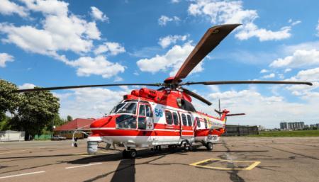 Украинским спасателям передали шестой вертолет Airbus