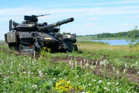 Штаб ООС показал мощь одной из танковых бригад