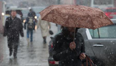 В Украину идет мокрый снег, местами гололедица