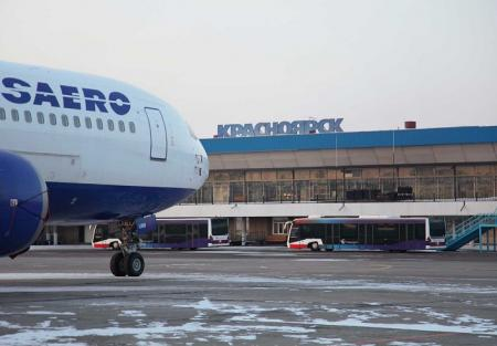 Красноярский аэропорт парализовало из-за прилёта Путина