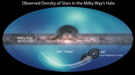 Новая карта Млечного Пути помогла найти след карликовой галактики