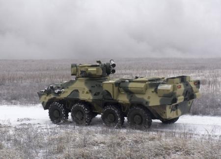 Киевский завод представил экспериментальный корпус БТР-3ДА