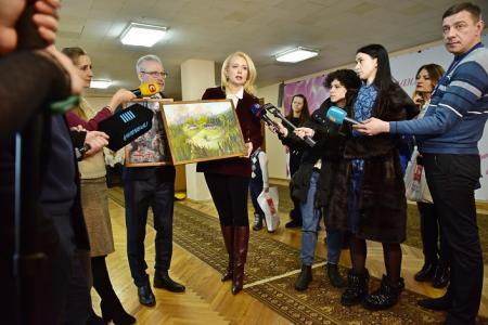 7 березня 2018 у Дарницкій РДА м. Києва відкрилася художня виставка «Україна очима дітей АТО»