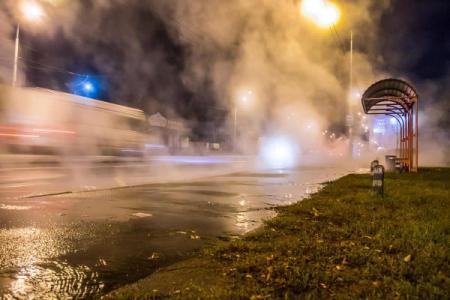 В Киеве прорвало трубы с горячей водой